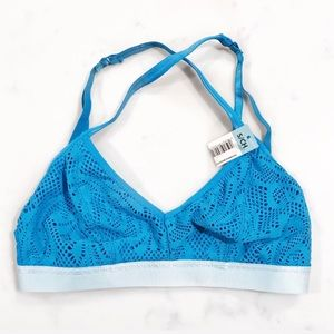 Other - 💗 Racerback Mixed Blue Triangle Bralette